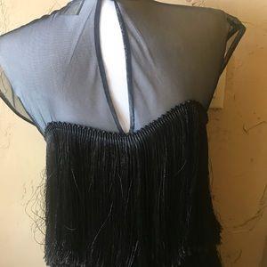 Fringe flapper girl dress
